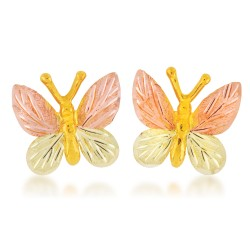 G348 BH Gold Butterfly Post earrings