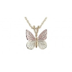 G226 BH Gold Butterfly Pendant