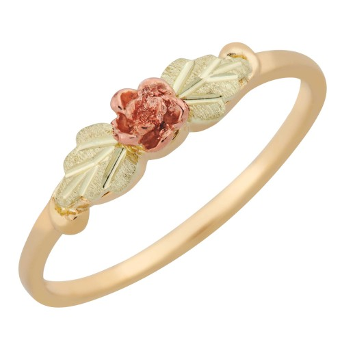 Black Hills Gold Jewelry G70 Womens Gold Ring with Rose