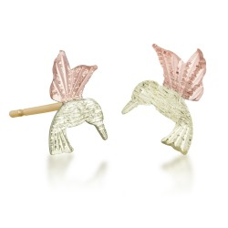 BH Gold Hummingbird Post Earrings GLER545