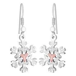 MRLER972 - Gold & Silver Snowflake Earrings