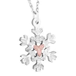 MRLPE972 - Gold & Silver Snowflake Pendant