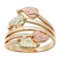 Four Leafed Women's BH Gold Wrap Around Ring - Fast- Track - G1685