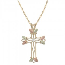 BHGold Cross Pendant with Diamond - GC2966D