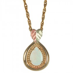 BH Gold Antique Style Opal Drop Pendant - GC26041L-CB