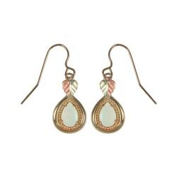 Black Hills Gold Antique Style Opal Drop Earrings - GC50740L
