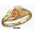 Women's Black Hills Gold Rose Ring G1100