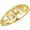 Women's Black Hills Gold Ring w/ Diamond G1143D