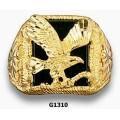 Men's Black Hills Gold Eagle Ring w/ Onyx G1310OX
