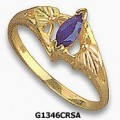 Women's Black Hills Gold Ring w/ Created Sapphire G1346CRSA