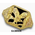 Men's Black Hills Gold Eagle Ring w/ Onyx G1385OX