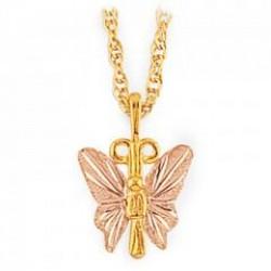 Black Hills Gold Butterfly Pendant G2160
