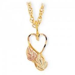 Black Hills Gold Heart Pendant G2173