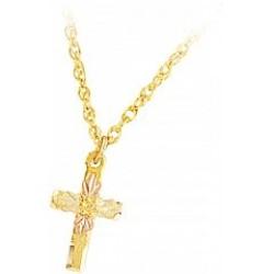 Black Hills Gold Cross Pendant G274
