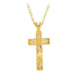 Black Hills Gold Cross Pendant G276