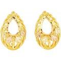 Black Hills Gold Teardrop Earrings G3282