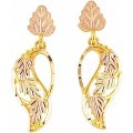 Black Hills Gold Dangled Post Styed Earrings G3321