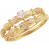 G408E Women's Black Hills Gold Engagement Ring