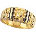 Men's Black Hills Gold Ring G42