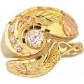 Women's Black Hills Gold Engagement & Wedding Ring Set G4409EW