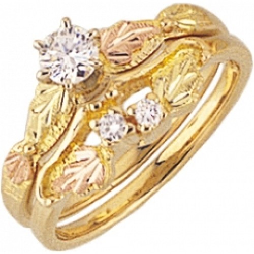 pink black of color best ring gold tri wedding s la rings hills diamond and