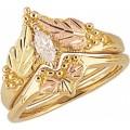 Women's Black Hills Gold Engagement & Wedding Ring Set G4417EW