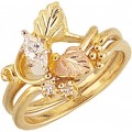 G4418EW - Women's Black Hills Gold Engagement & Wedding Ring Set