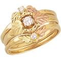 Women's Black Hills Gold Engagement & Wedding Ring Set G426EW