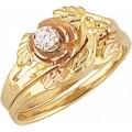 Women's Black Hills Gold Engagement & Wedding Ring Set G4427EW