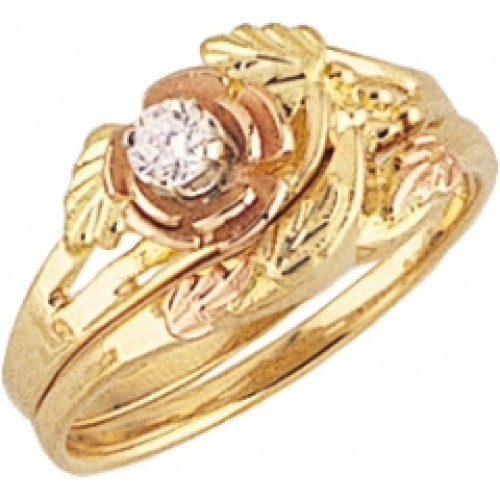 womens black hills gold engagement wedding ring set g4427ew