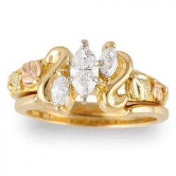 Special Order - Women's Gold Engagement & Wedding Ring Set G4459EW with 1/2 Ct Diamond
