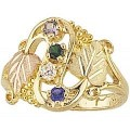 G900-SY Women's Black Hills Gold Mother's Ring w/ Synthetic Stones