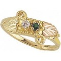 G904-SY Women's Black Hills Gold Mother's Ring w/ Synthetic Stones