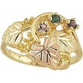 G905-SY Women's Black Hills Gold Mother's Ring w/ Sythetic Stones