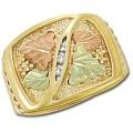 Men's Black Hills Gold Ring w/ Diamonds GL02739