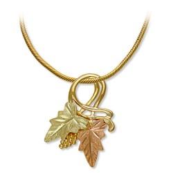 Black Hills Gold Leaves Pendant Necklace GL03611_SN