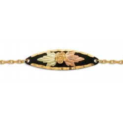 BH Gold on Black Enamel Charm Bracelet GLBR880