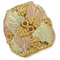 GLC228 Men's BH Gold Infinity Leaves Ring