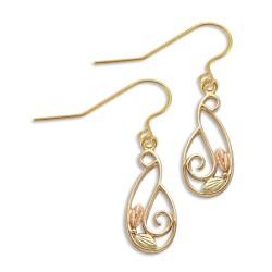BH Gold Sweeping Vine Dangle Earring Set GLER1915