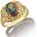 Women's BH Gold Ring w/ Mystic Fire Topaz GLLR625-471