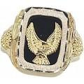 Men's BH Gold on Silver Eagle Ring w/ Black Onyx MR1180OX