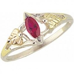 Women's Sterling Silver Ring w/ Created Ruby MR1346CRR