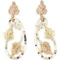 BH Gold on Sterling Silver Teardrop Earrings MR323LD