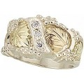 MR45CZ Women's BH Gold on Silver Ring w/ Cubic Zirconia