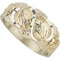 Men's BH Gold on Sterling Silver Ring MR46