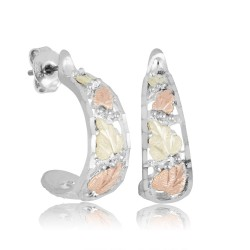 BH Gold on Silver Post Falling Leaves Earring Set MRL01015