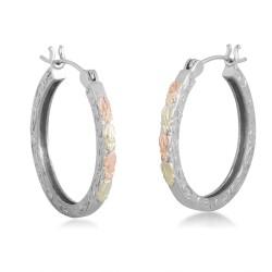 BH Gold on Silver Slender Hoop Earring Set MRL01554