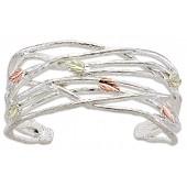 BH Gold on Silver Grape Twig Cuff Bracelet MRLBR3009C