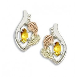 BH Gold on Silver Synthetic November Marquee Earring Set MRLER1778-311