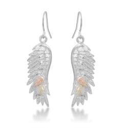 BH Gold on Silver Angel Wings Earring Set MRLER1932